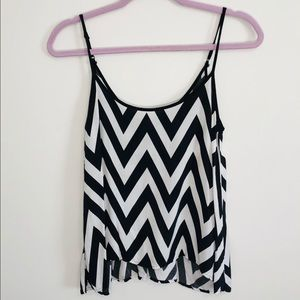 Wet Seal black and white striped thin tank top S